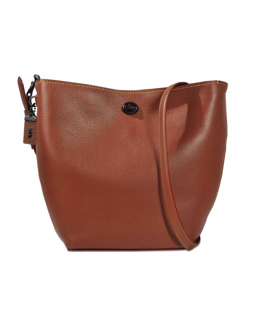 COACH | Brown Duffle Shoulder Bag In Glovetanned Pebble Leather | Lyst