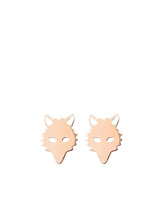 Ginette NY | Metallic Wolf Studs Earrings | Lyst