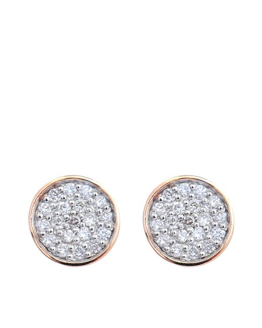 Ginette NY | Metallic Round Sequin & Galaxy Diamond Earrings | Lyst