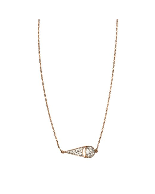 Ginette NY | Metallic Mrs Joe Tiny Diamond On Chain Necklace | Lyst