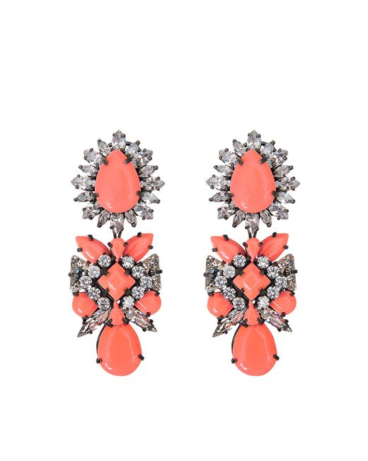 Shourouk | Orange Blondie Earrings | Lyst