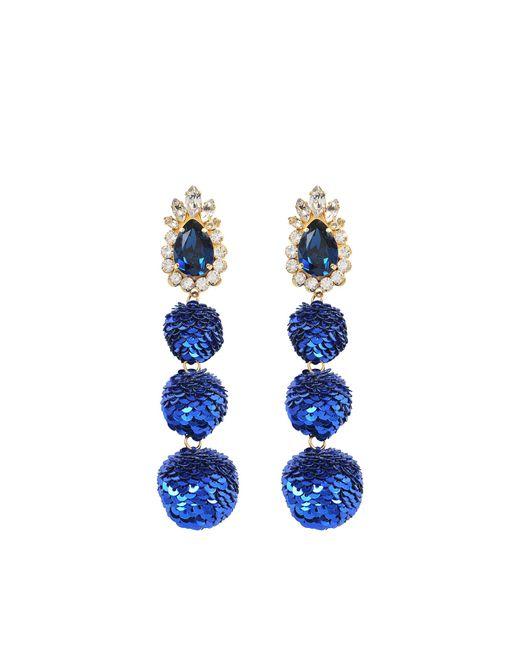 Shourouk | Blue Disco Earrings | Lyst