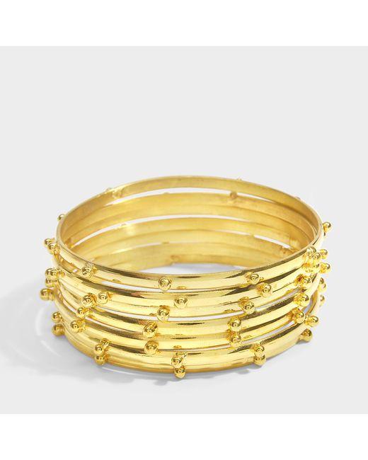Sylvia Toledano - Multicolor Seven Bracelet In 18k Gold Plated Brass - Lyst