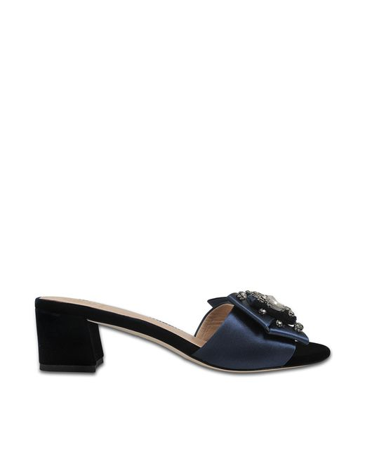 Tory Burch | Black Valentina Bow Mules | Lyst