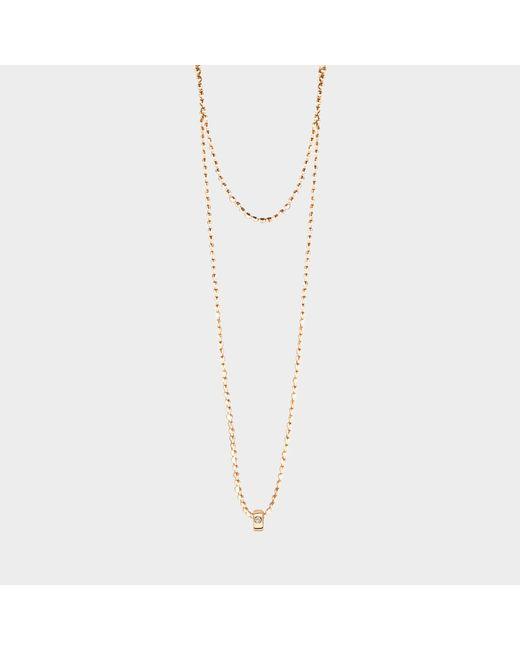 Ginette NY - Metallic Mini Tube & Diam Necklace - Lyst