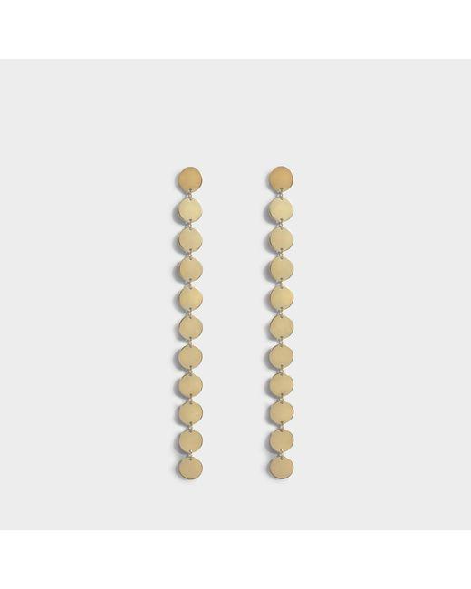 Saskia Diez - Metallic Multi Paillettes Earrings In 18k Gold-plated Silver - Lyst