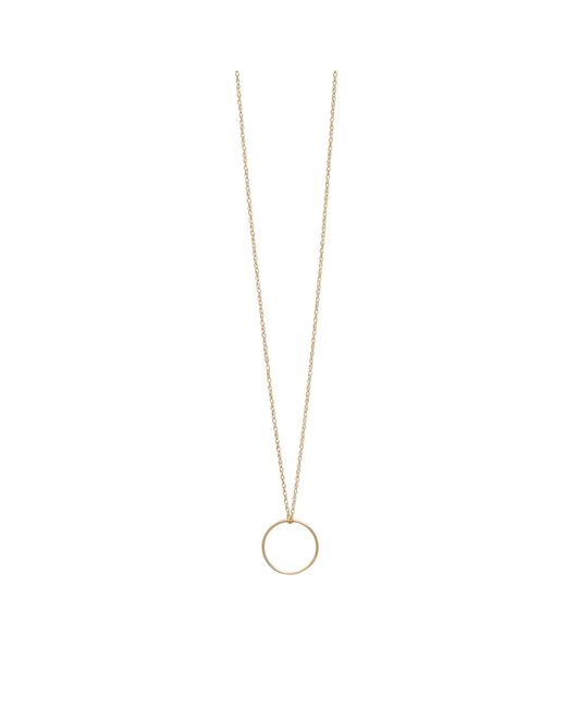 Ginette NY | Metallic Pink Gold Mini Circle Necklace | Lyst