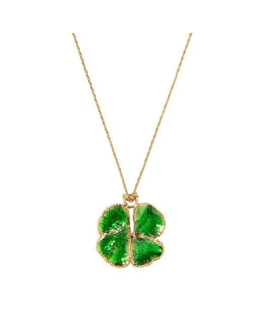 Aurelie Bidermann - Green Fine Jewellery - Natural Mini Clover 18 K And Emerald Lacquer - Lyst