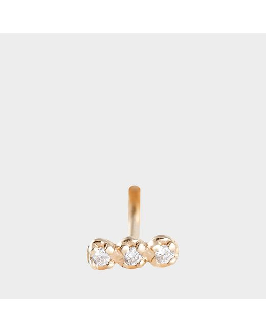 Ginette NY - Metallic Solo Diamond Strip Stud Earring - Lyst