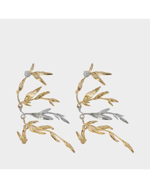 Aurelie Bidermann - Metallic Mimosa Earrings - Lyst
