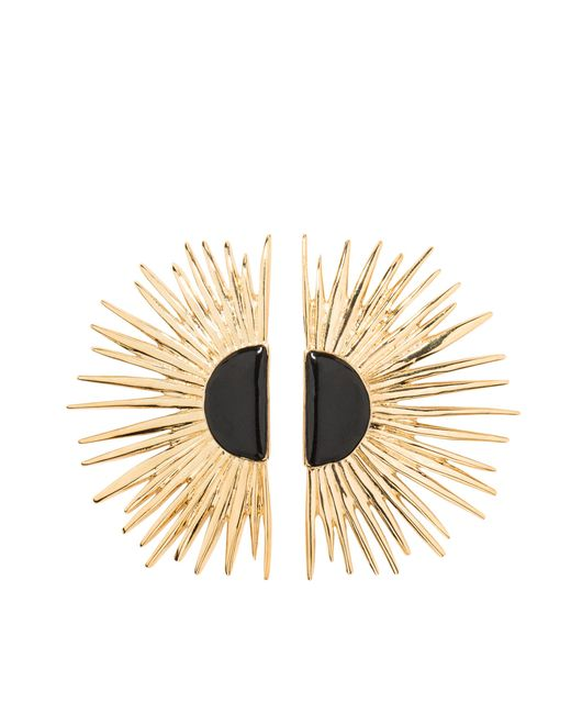 Aurelie Bidermann | Metallic Duchesse Pin Earrings With Enamel | Lyst