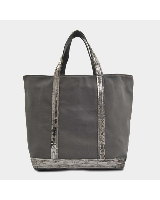 Vanessa Bruno - Gray Sequins And Canvas Medium + Tote - Lyst