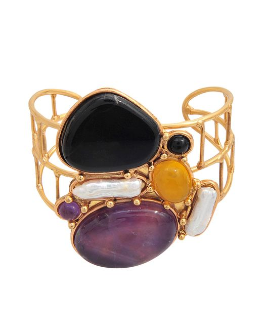 Sylvia Toledano | Metallic Abstract Cuff | Lyst