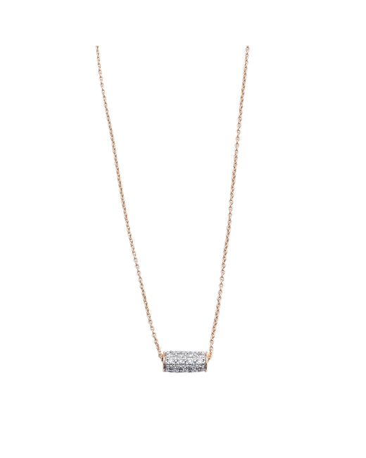 Ginette NY | Metallic Mini Straw Diamond Necklace | Lyst
