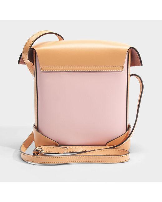 Mini Pristine Bag in Bubblegum Vegetable Tanned Calfskin Manu Atelier y0nDhKa