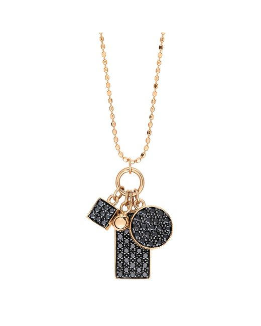 Ginette NY | Metallic Mini Black Diamond Ever Charm Necklace | Lyst