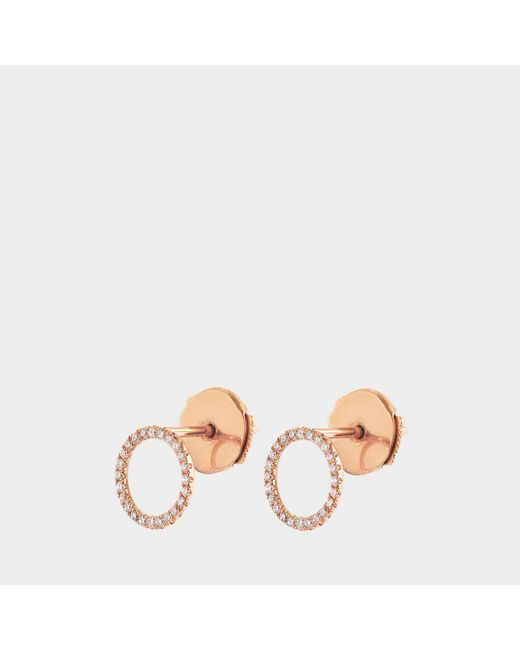 Vanrycke - Metallic Exclusive - Mono Earring I'm In Love 750‰ Gold And Diamonds - Lyst