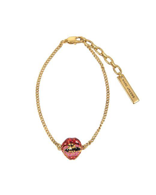 Marc Jacobs | Metallic Lips In Lips Bracelet | Lyst