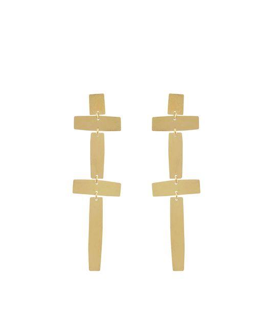 Annie Costello Brown | Metallic Double Cross Earrings | Lyst