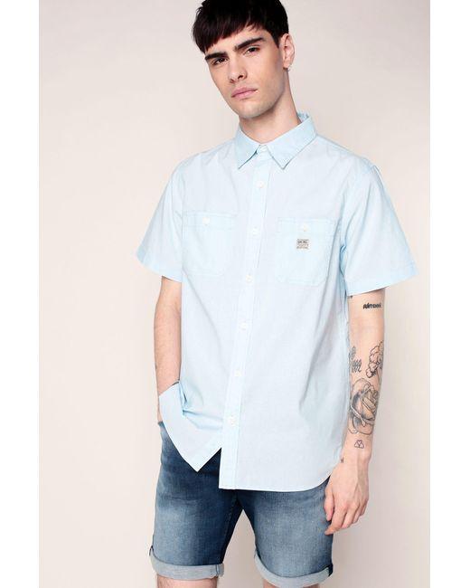 Denim & Supply Ralph Lauren - Blue Short Sleeve Shirt for Men - Lyst