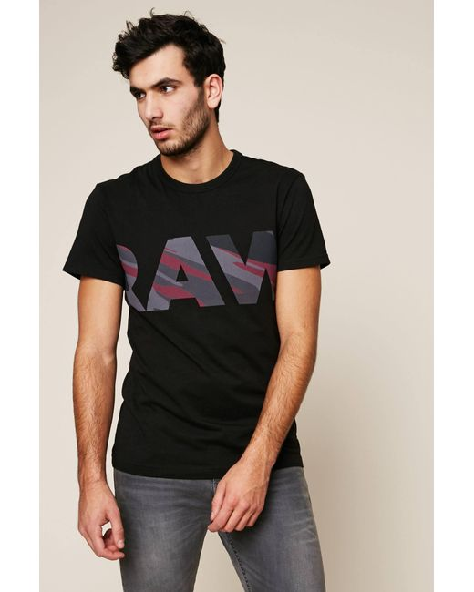 G-Star RAW - Black T-shirt for Men - Lyst