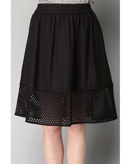 vero moda midi skirt maxi skirt in black lyst
