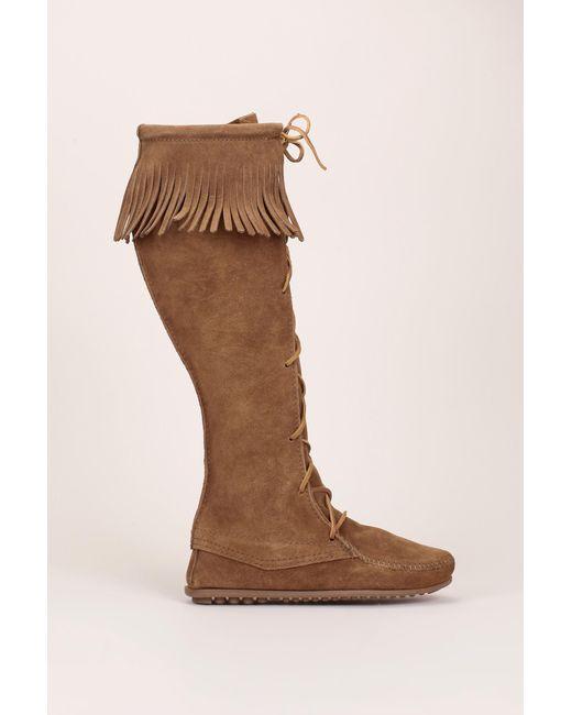 Minnetonka   Brown Boot   Lyst