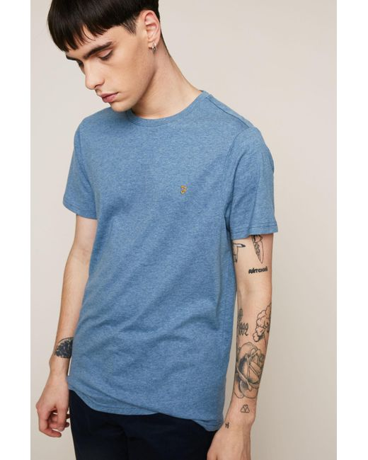 Farah | Blue T-shirt for Men | Lyst