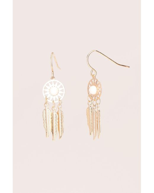 Pieces   White Earrings   Lyst
