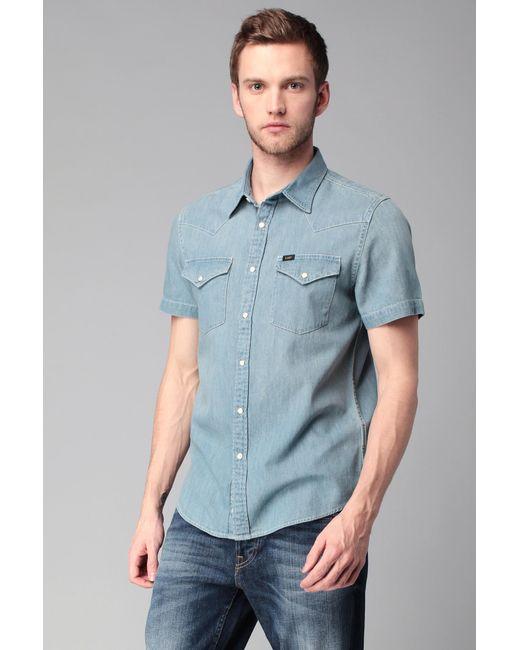 Lee Jeans | Blue Long Sve Shirt for Men | Lyst