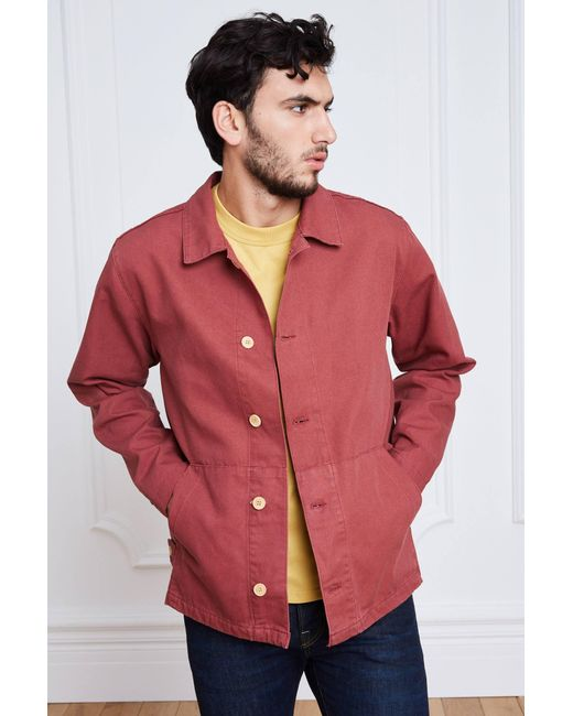 Armor Lux - Red Jackets & Blazers for Men - Lyst