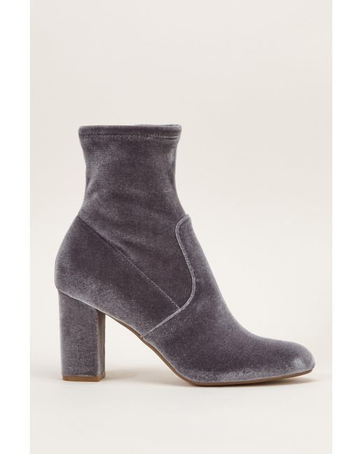 Steve Madden   Gray Bootee And Ankle Boot   Lyst