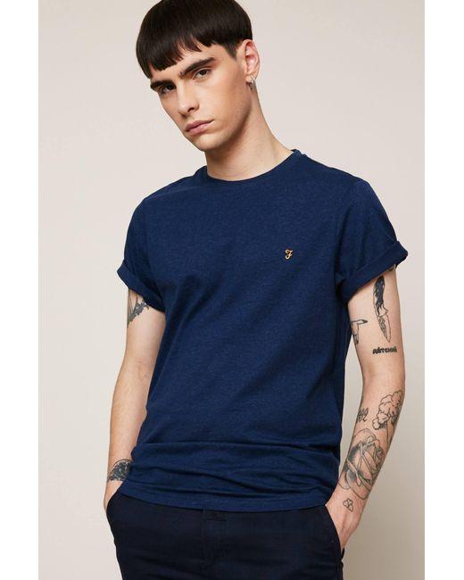Farah | Blue T-shirt for Men | Lyst