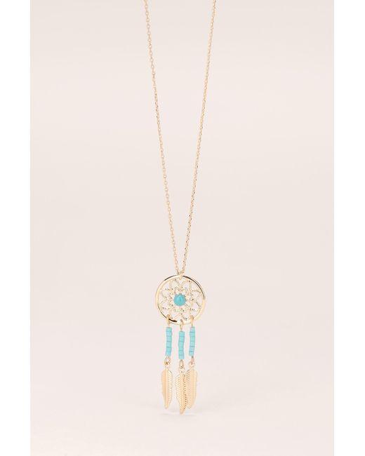 Pieces   Blue Necklace / Longcollar   Lyst