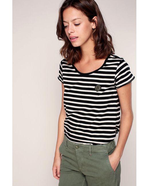 Maison Scotch   White T-shirts & Polo Shirts   Lyst