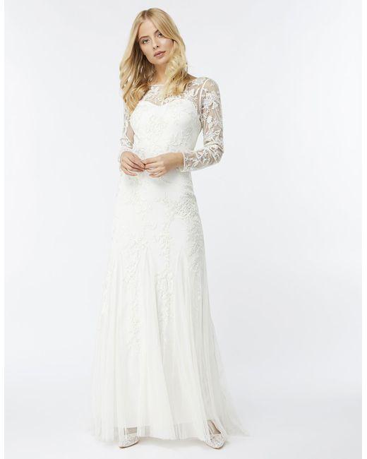 White maxi wedding dress