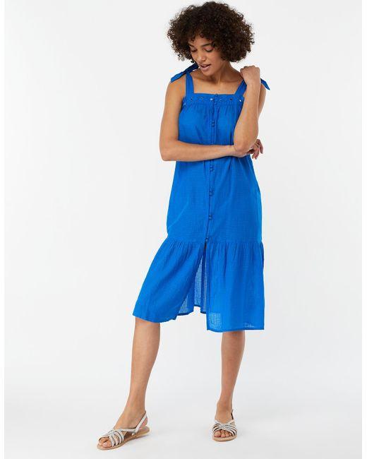 5f8dc3398e10 Monsoon - Blue Saskia Midi Dress - Lyst ...