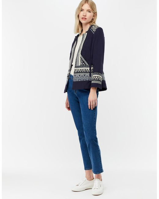 3aec5644fc3c2 Monsoon Eleanor Embroidered Jacket in Blue - Save 50% - Lyst