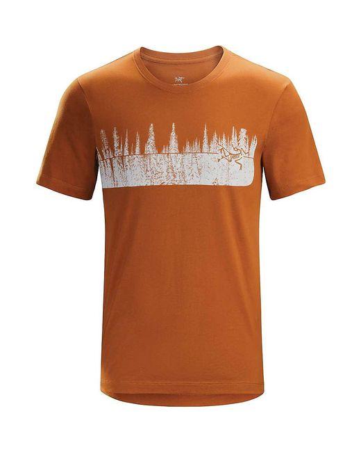 Arc'teryx - Orange Glades Ss T-shirt for Men - Lyst