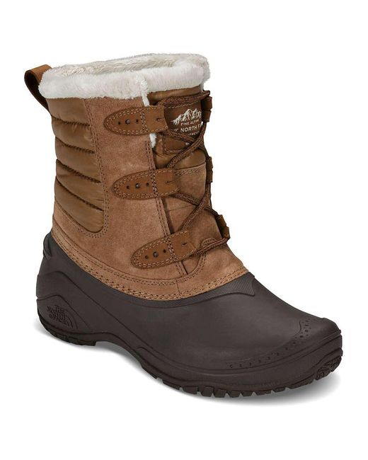 The North Face - Brown Shellista Ii Shorty Boot - Lyst