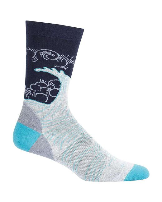 Icebreaker - Blue Lifestyle Fine Gauge Ultra Light Turbulent Tide Crew Sock for Men - Lyst