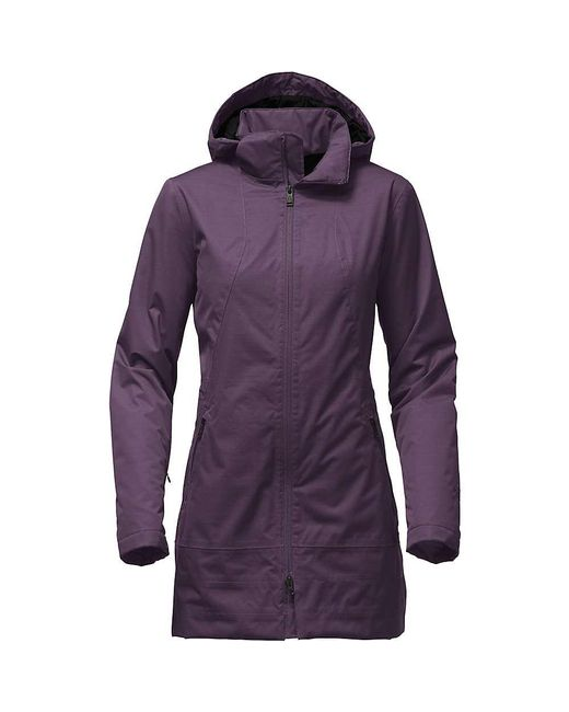 The North Face   Purple Insulated Ancha Parka   Lyst