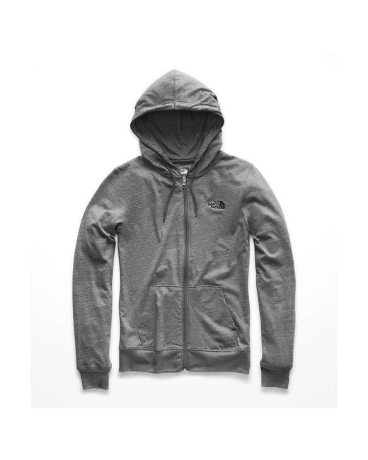 The North Face - Gray Lite Weight Full Zip Hoodie - Lyst
