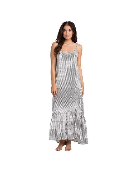 Billabong - White Wave Chaser Maxi Dress - Lyst