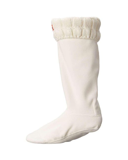 Hunter - White Original 6 Stitch Cable Tall Boot Sock - Lyst