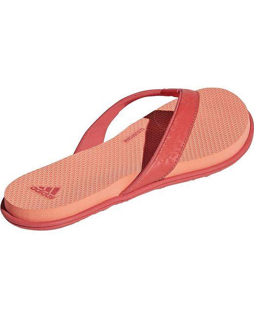 efeb9b2a47736 Lyst - adidas Cloudfoam One Y Sandal in Red - Save 14%
