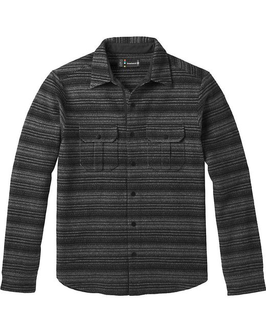 Smartwool - Black Anchor Line Stripe Shirt Jacket for Men - Lyst