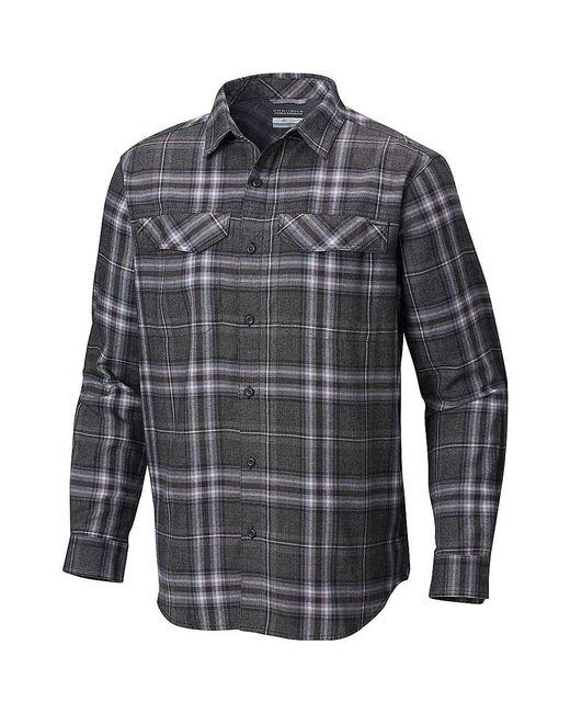 8fe601c71c1 Columbia - Black Silver Ridge Flannel Ls Shirt for Men - Lyst ...