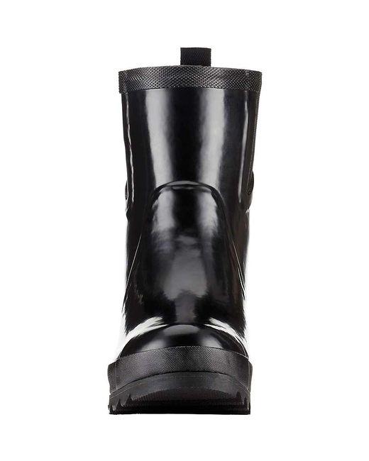 9862bd4557a6 ... Sorel - Black Joan Rain Wedge Chelsea Gloss Boot - Lyst
