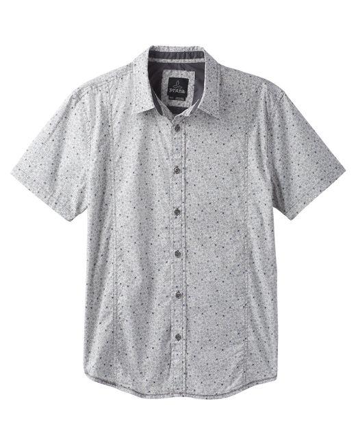 Prana Gray Lukas Ss Shirt for men
